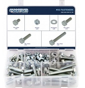ASSORTED BOX OF M10 FASTENERS (BOX OF 145 PIECES)